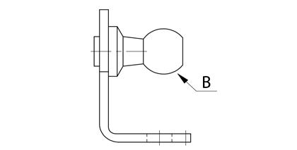 Technické kreslenie - konzola s guľovým čapom