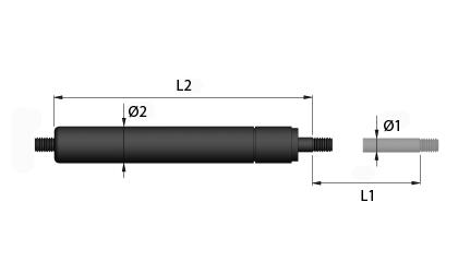 Technické kreslenie - Trakčné plynové vzpery