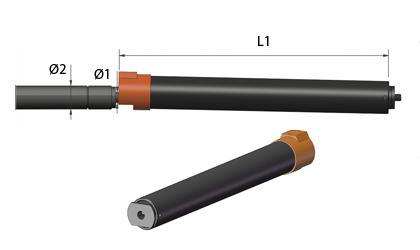 Technické kreslenie - Uzatváracie trubice - Čierna