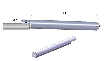 Technické kreslenie - Uzatváracie trubice - Nehrdzavejúca oceľ