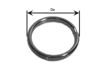 Technické kreslenie - Delené krúžky  - Pozinkované