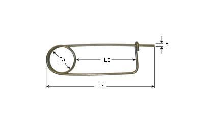 Technické kreslenie - Aretačné kolíky - Nehrdzavejúca oceľ