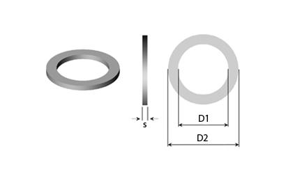 Technické kreslenie - Podporné podložky & Vložkové prstencové podložky