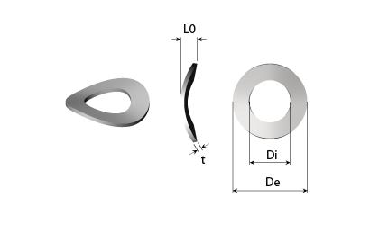 Technické kreslenie - Vlnové pružiace podložky